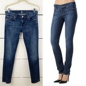 7 FOR ALL MANKIND Roxanne Skinny Straight Jeans 30